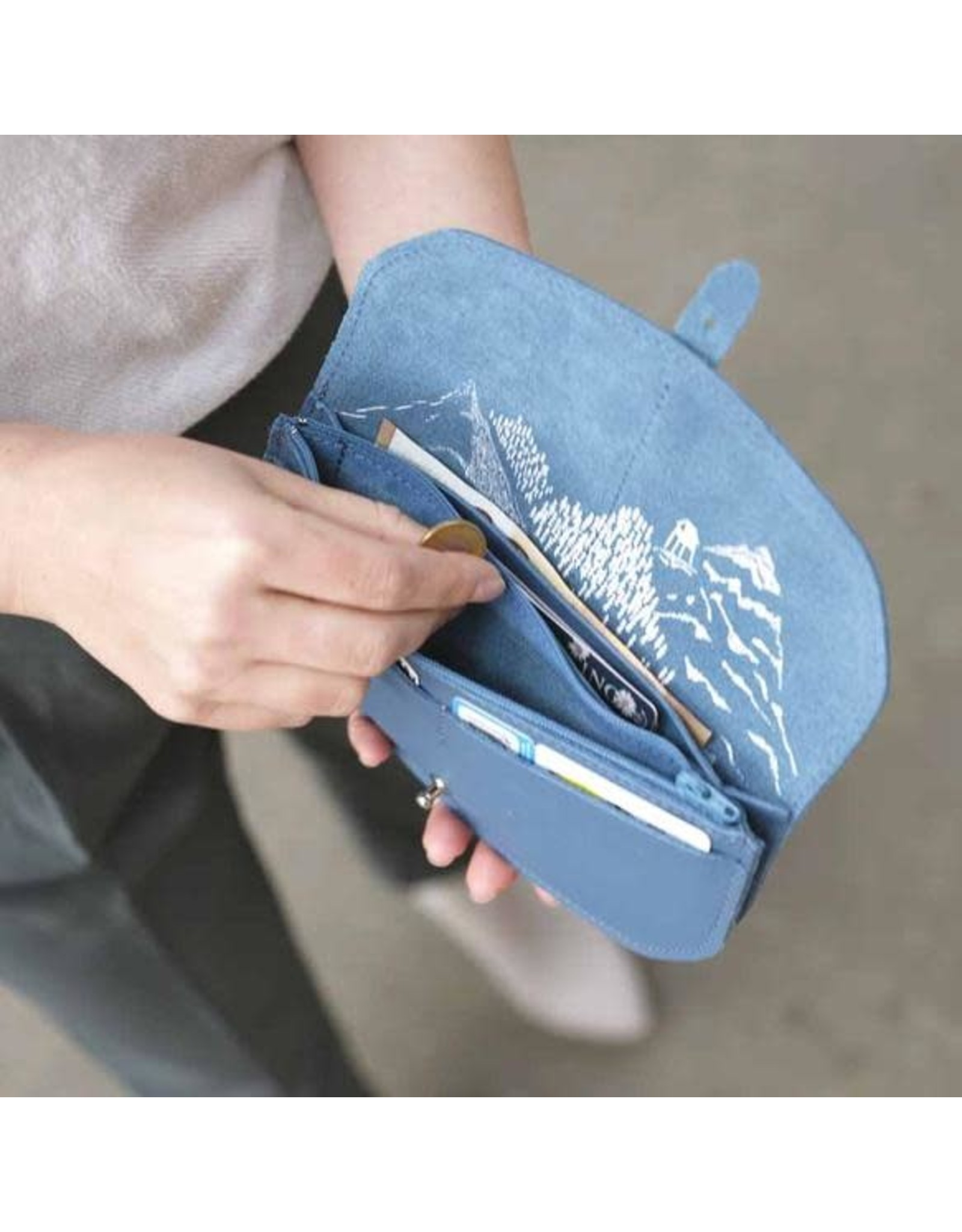 Keecie Move mountains wallet faded blue