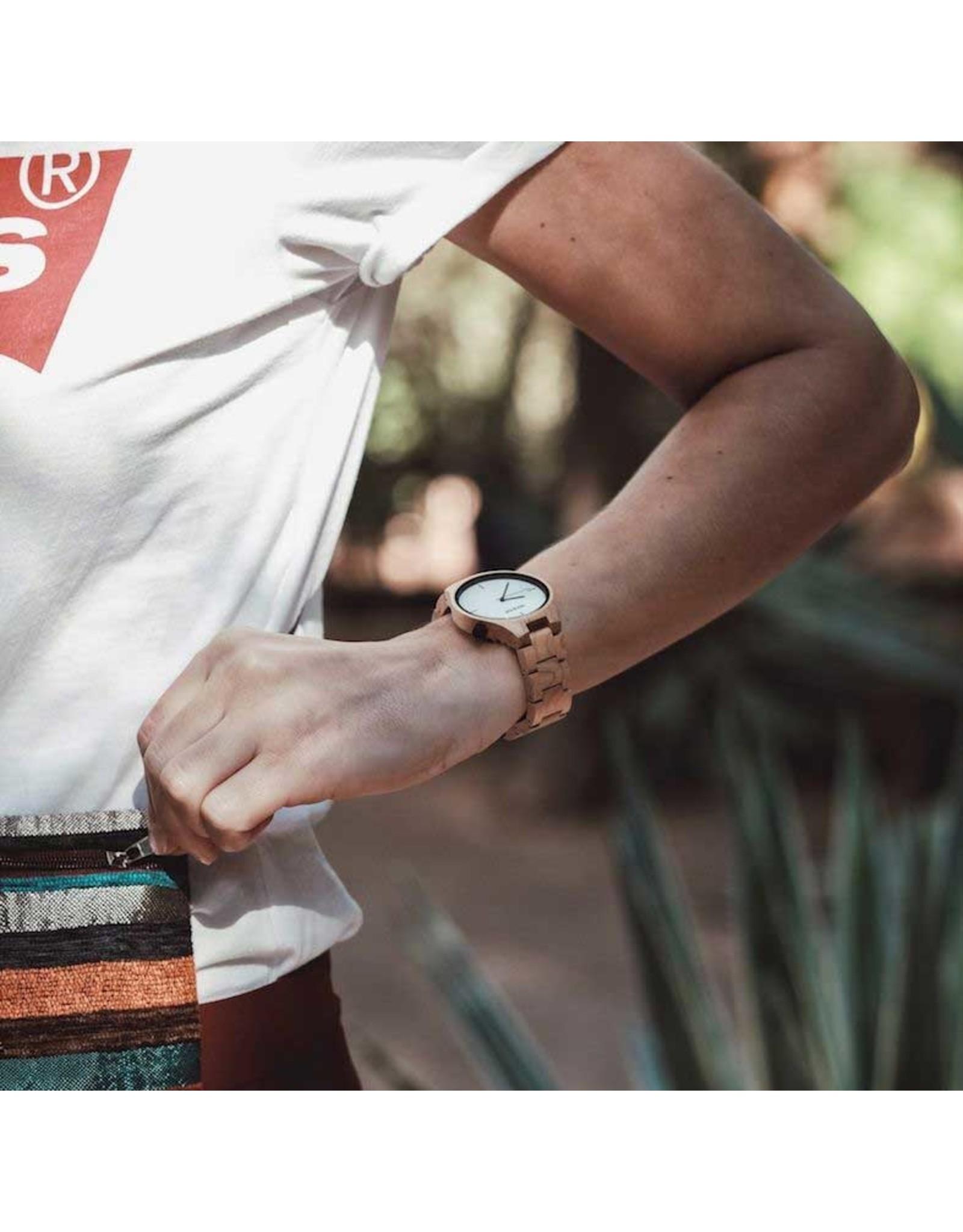 Hot&Tot Houten Horloge | 40mm| Esdoornhout