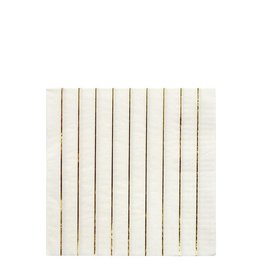 Meri Meri Serviettes   Gouden strepen   16st   13 x 13cm