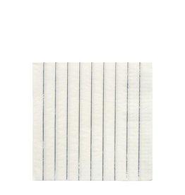 Meri Meri Servetten - Zilver strepen - 16st - 10 x 10cm