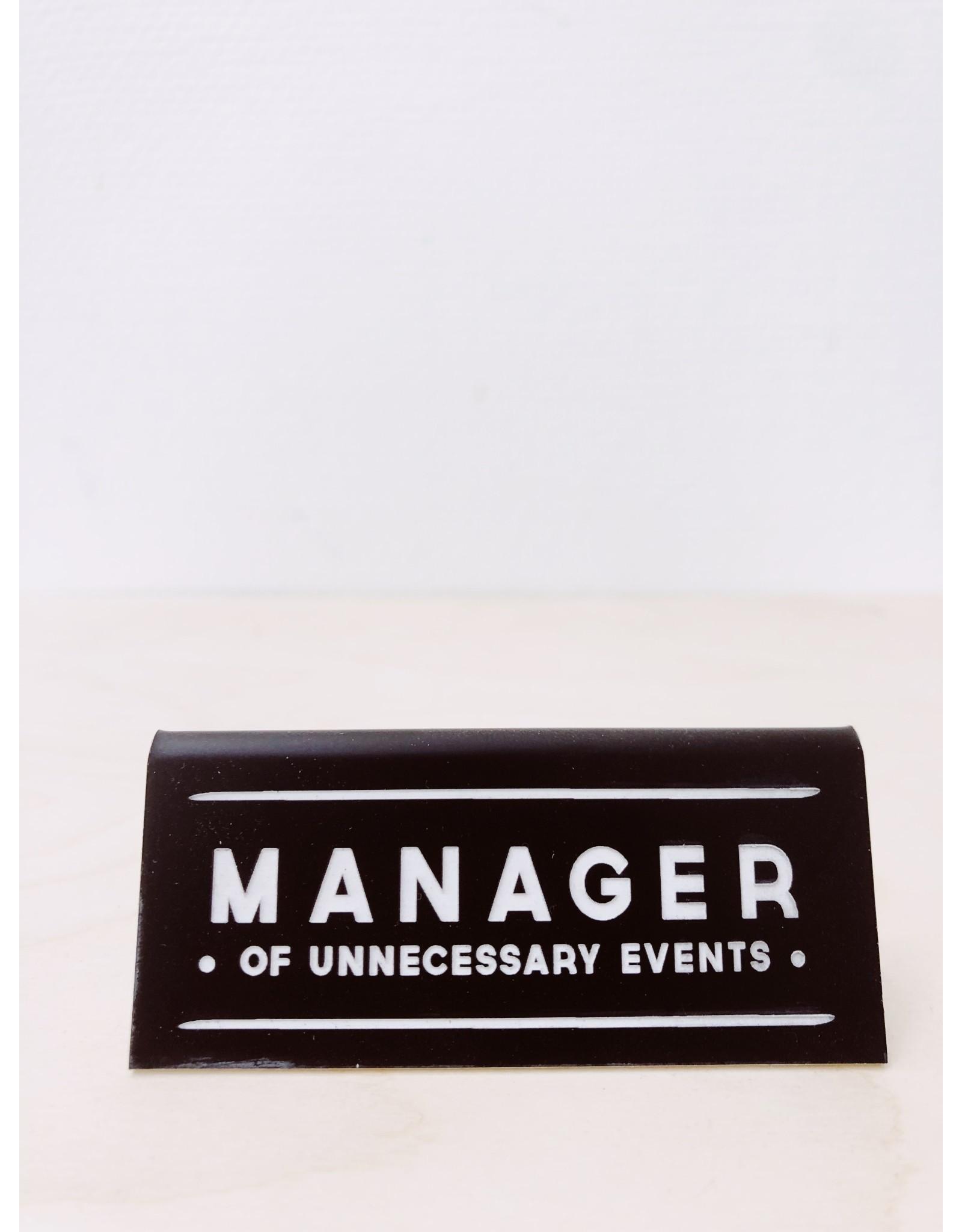 CGB Giftware Bureau Naambordje | Manager
