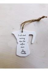 Sent and Meant Hanger - Porselein - Koffiepot - Start working