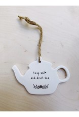 Sent and Meant Hanger Theepot - Keep calm - Porselein