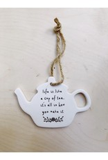Sent and Meant Hanger - Porselein - Theepot - Life is like