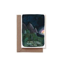 Reddish Design Wenskaart - Stay strong in dark times - Dubbele kaart + Envelope - 10 x 15cm