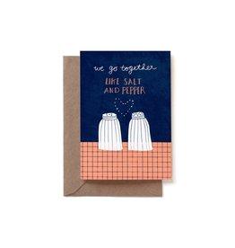 Reddish Design Wenskaart - Love Salt & Pepper - Dubbele kaart + Envelope - 10 x 15cm