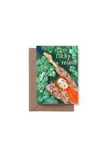 Reddish Design Wenskaart - I'm so lucky - Dubbele kaart + Envelope - 10 x 15cm