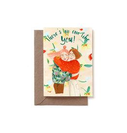 Reddish Design Wenskaart - Friend Love - Dubbele kaart + Envelope - 10 x 15cm
