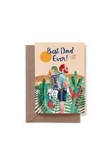 Reddish Design Wenskaart - Best Dad - Dubbele kaart + Envelope - 10 x 15cm