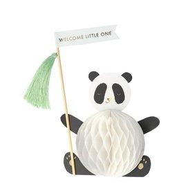Meri Meri Wenskaart - Baby Panda - 3D Honeycomb stand up - 13,5 x 18,5 - Congratulation