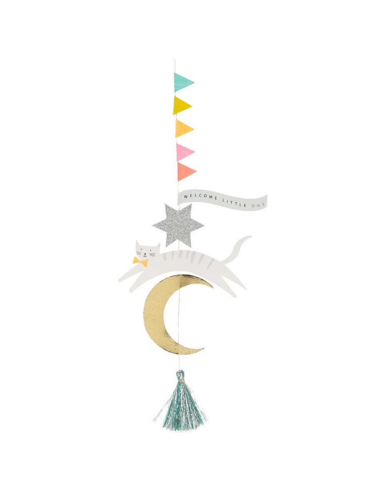 Meri Meri Wenskaart - Welcome little one - Hanging Decoration + Envelop - 13,5 x 18,5 - Congratulations
