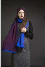 Wolvis Wolvis - 16th of July 2014 - Electric Blue and Aubergine - 220cm x 40 - 100% Merino Wool - 100% made in Belgium