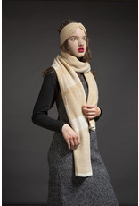 Wolvis Wolvis - 15th of May 1991 - Nude and Papyrus White  - 220cm x 40 - 100% Merino Wool - 100% made in Belgium
