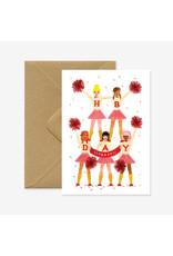 ATWS Wenskaart - HBD YAY! - Dubbele kaart + Envelop - 11,5 x 16,5 - Blanco