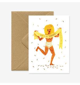 ATWS Wenskaart - Let's Go Bananas! - Dubbele kaart + Envelop - 11,5 x 16,5 - Blanco