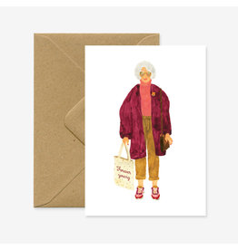 ATWS Wenskaart - Forever Young - Dubbele kaart + Envelop - 11,5 x 16,5 - Blanco