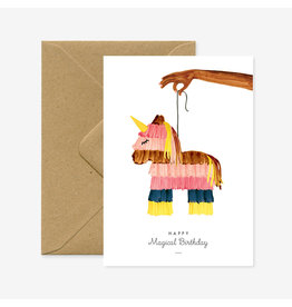 ATWS Wenskaart - Piñata  - Dubbele kaart + Envelop - 11,5 x 16,5 - Blanco