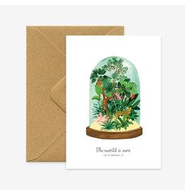 ATWS Wenskaart - The world is ours - Dubbele kaart + Envelop - 11,5 x 16,5 - Blanco