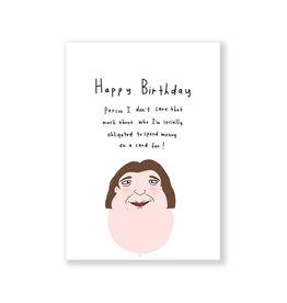 Eat Mielies Wenskaart - Obligatory Happy Birthday  - Dubbele Kaart + Envelop - 11,5 x 16,5 - Blanco
