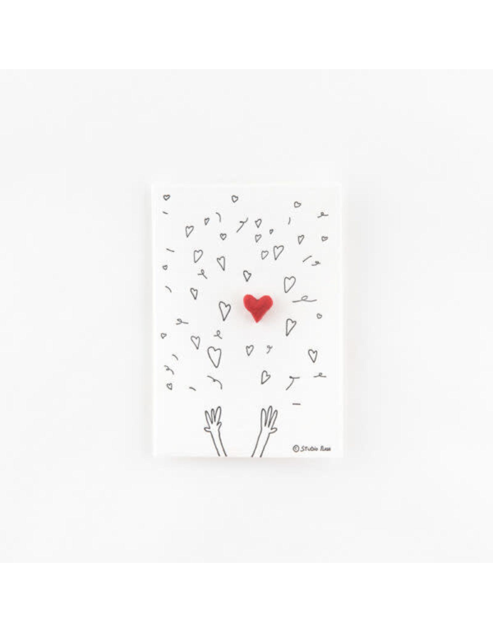 Studio Flash Pin - Hearts Confetti