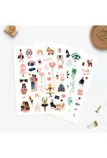 ATWS Sticker set - 3 sheets - 110  stickers