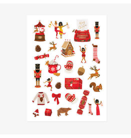 ATWS Sticker set XMAS - 3 sheets - 63 stickers & 11 sticky labels.
