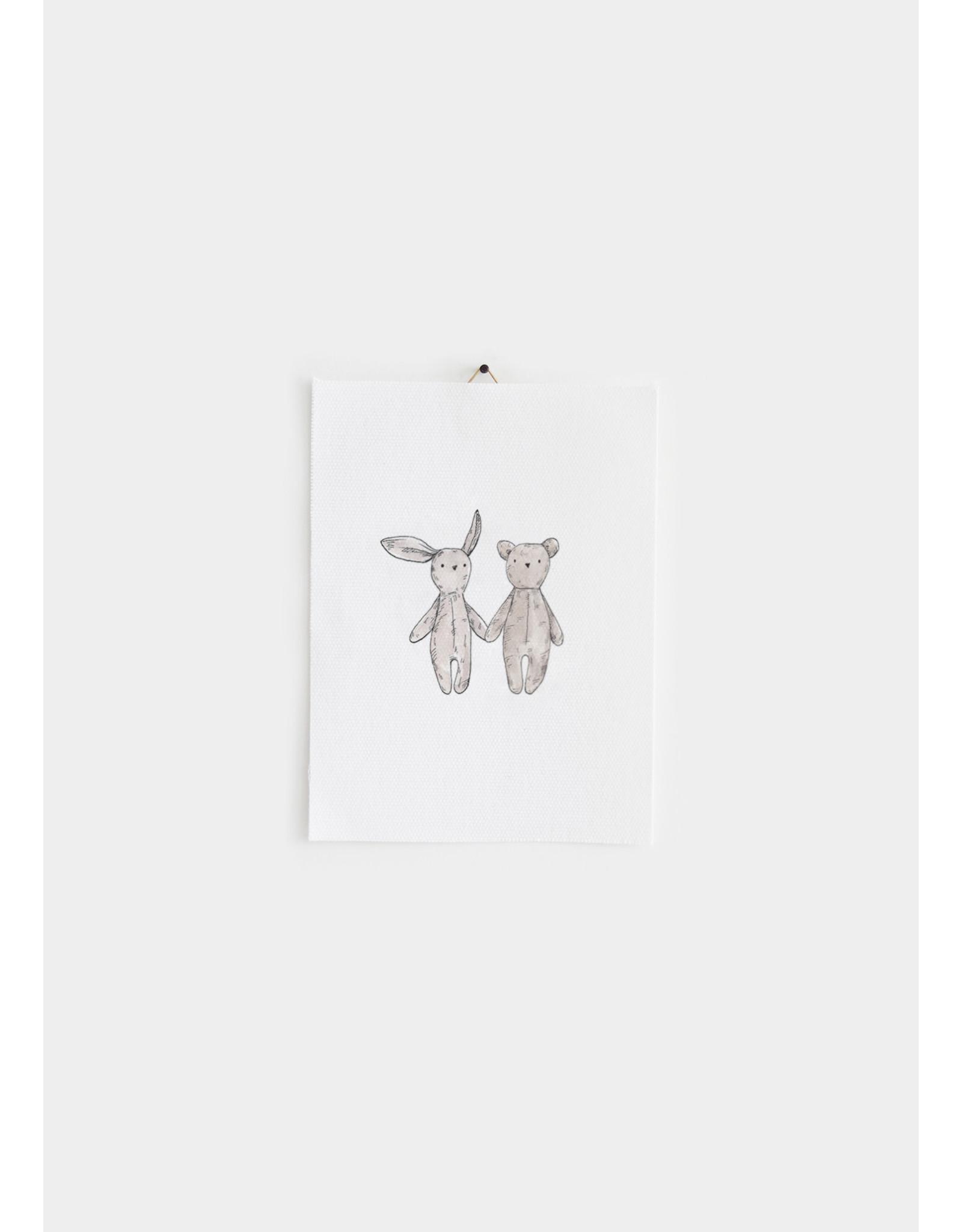 Inkylines Katoenen poster - knuffels