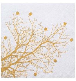Raeder Serviettes - Tree Gold - 16,5 x 16,5 - 20st