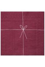 Raeder Serviettes - Bordeaux met strik - 16,5 x 16,5 - 20st