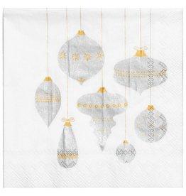 Raeder Serviettes - Kerstballen -  12,5 x 12,5 - 20st