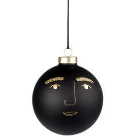 Raeder Kerstbal zwart Marco 10cm