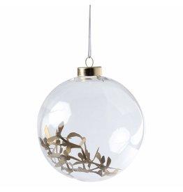 Raeder Kerstbal glas L gold takken 12cm