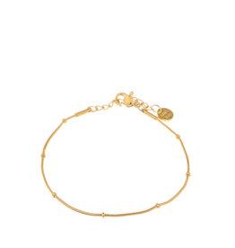 Label Kiki Armband - Mini dot chain Gold  - RVS - 16,5cm x 2,50 verlengketting