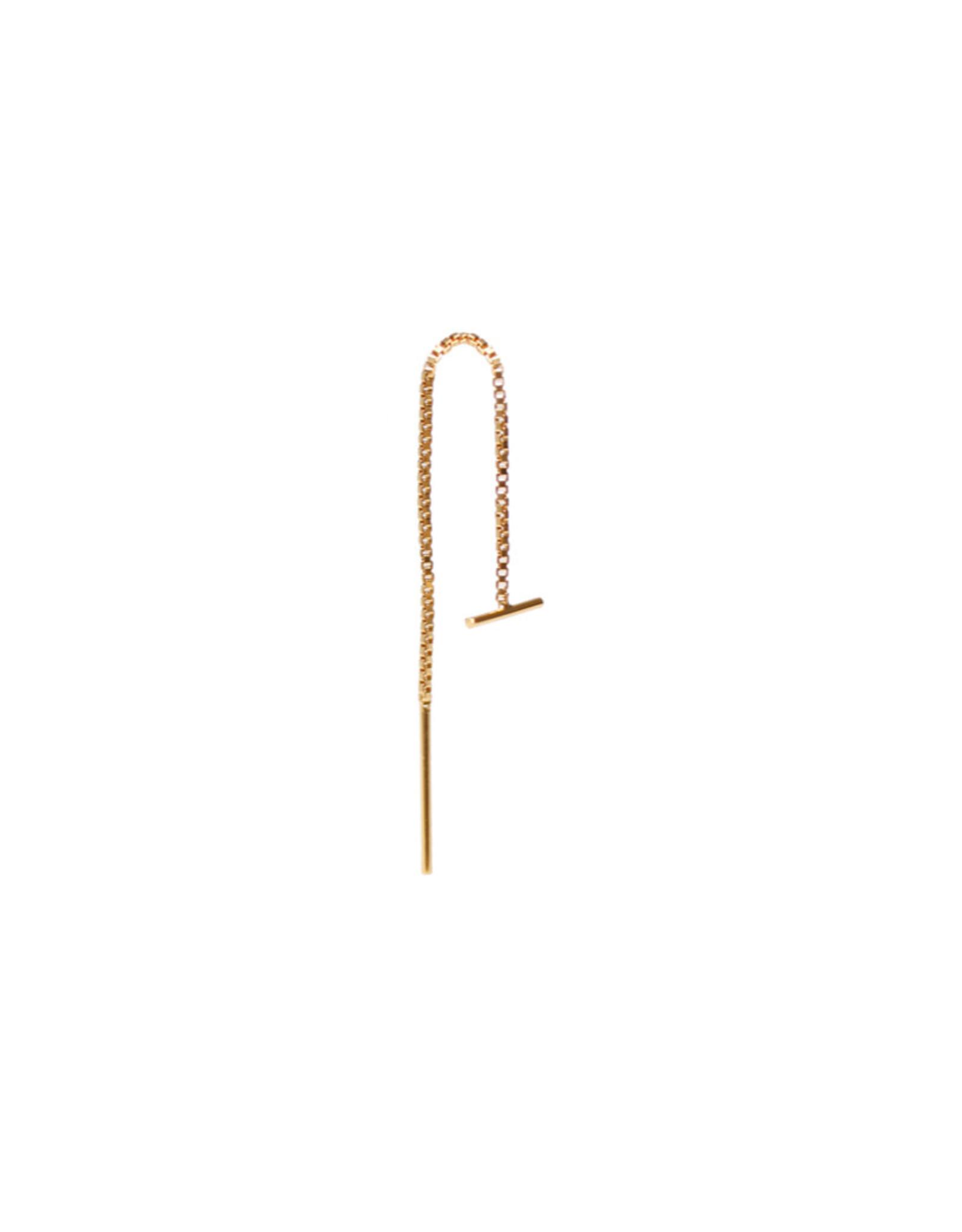 Label Kiki Oorbel - Bar Chain Gold - Silver 925