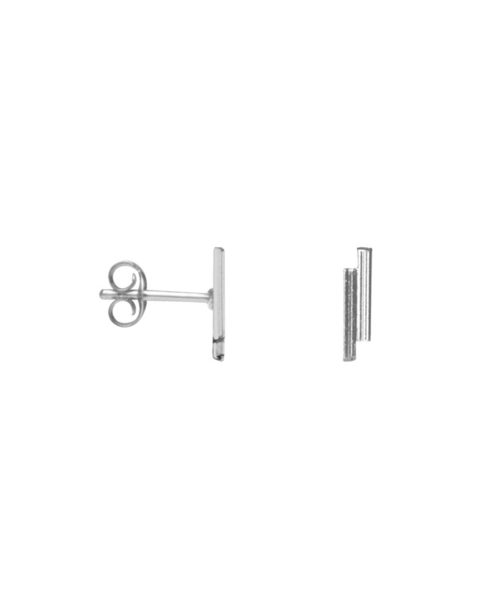 Label Kiki Oorstud - Double bar Silver - Silver 925