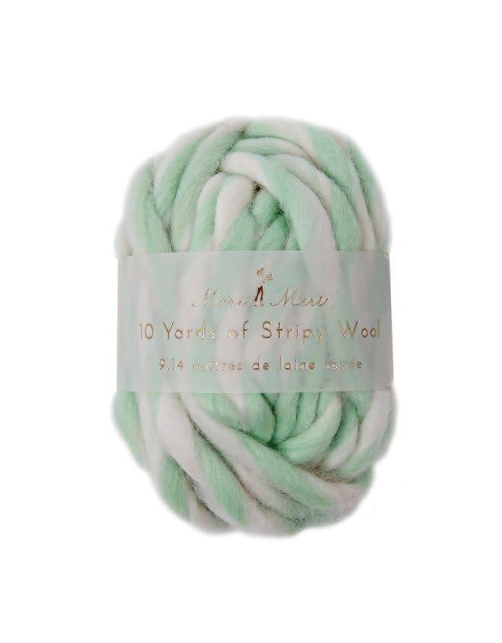 Meri Meri Stripy Wool - Mint - 9,14m