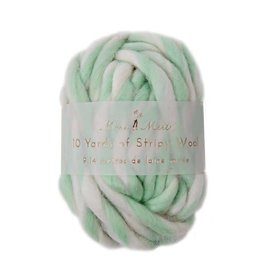 Meri Meri Stripy Wool - Mint - 9,14m