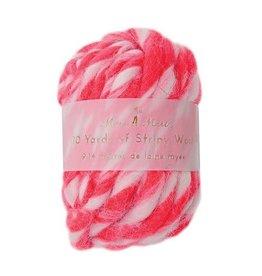 Meri Meri Stripy Wool - Rood - 9,14m