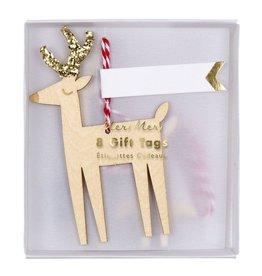 Meri Meri Gift Tags Reindeer, 8st