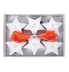 Meri Meri Adventslinger - 24 sterren doosjes + Touw