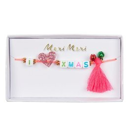 Meri Meri Armbandje Kids -  I love Xmas