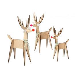 Meri Meri Reindeer decoration wood - 3st