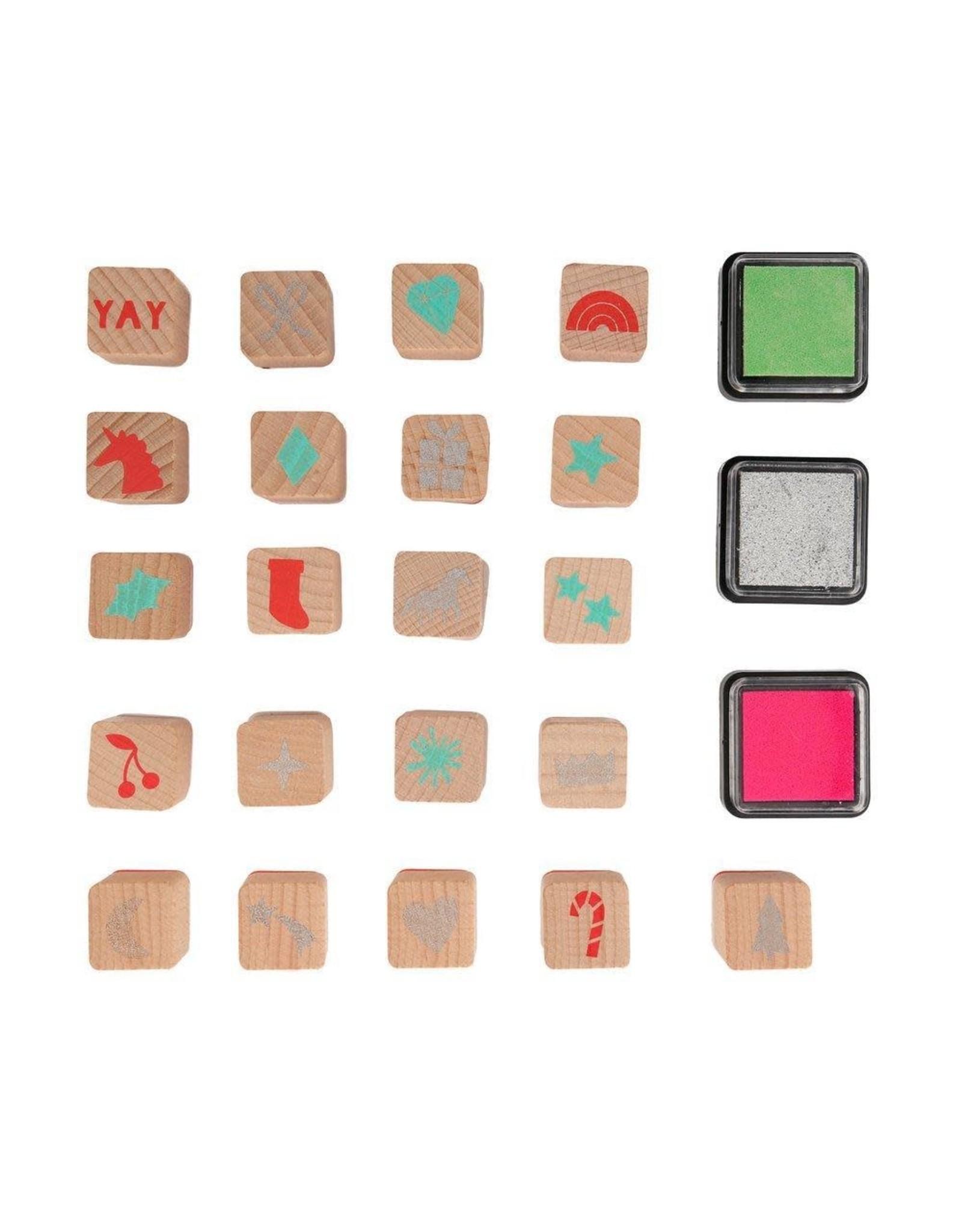 Meri Meri Advent Calender - Ink stamps unicorn