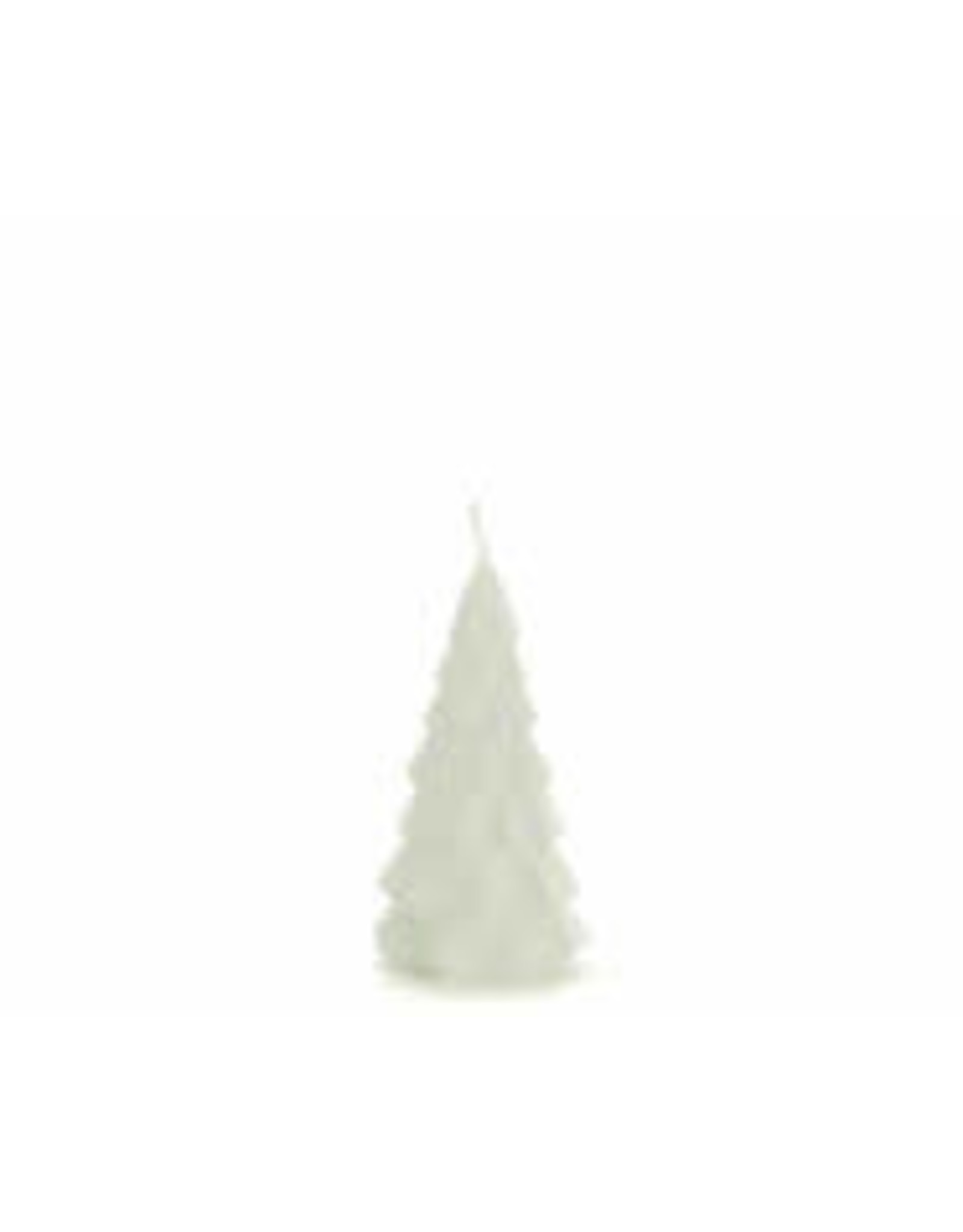 Rustik Lys Christmas tree candle - Small - Wit - 6,3 x 12 cm - Burning time +/- 13h