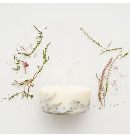 Munio Candela Candle - Heather - Natural Soy Wax - 220ml - Dia 8cm x H 4cm - Burn Time 15h