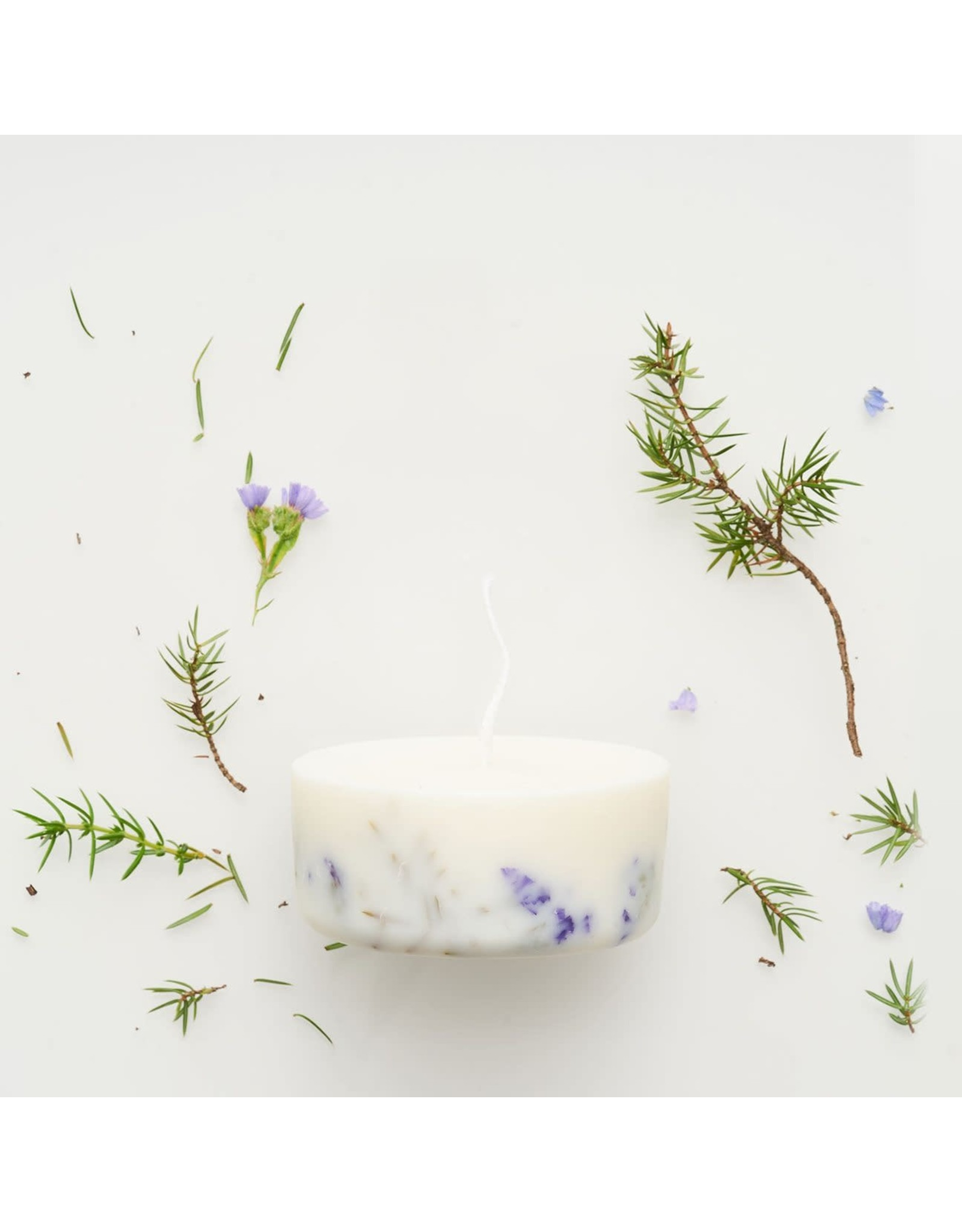 Munio Candela Candle - Juniper & Limonium - Natural Soy Wax - 220ml - Dia 8cm x H 4cm - Burn Time 15h