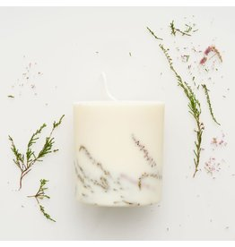 Munio Candela Candle - Heather - Natural Soy Wax - 515ml - Dia 8cm x H 10cm - Burn Time 50h