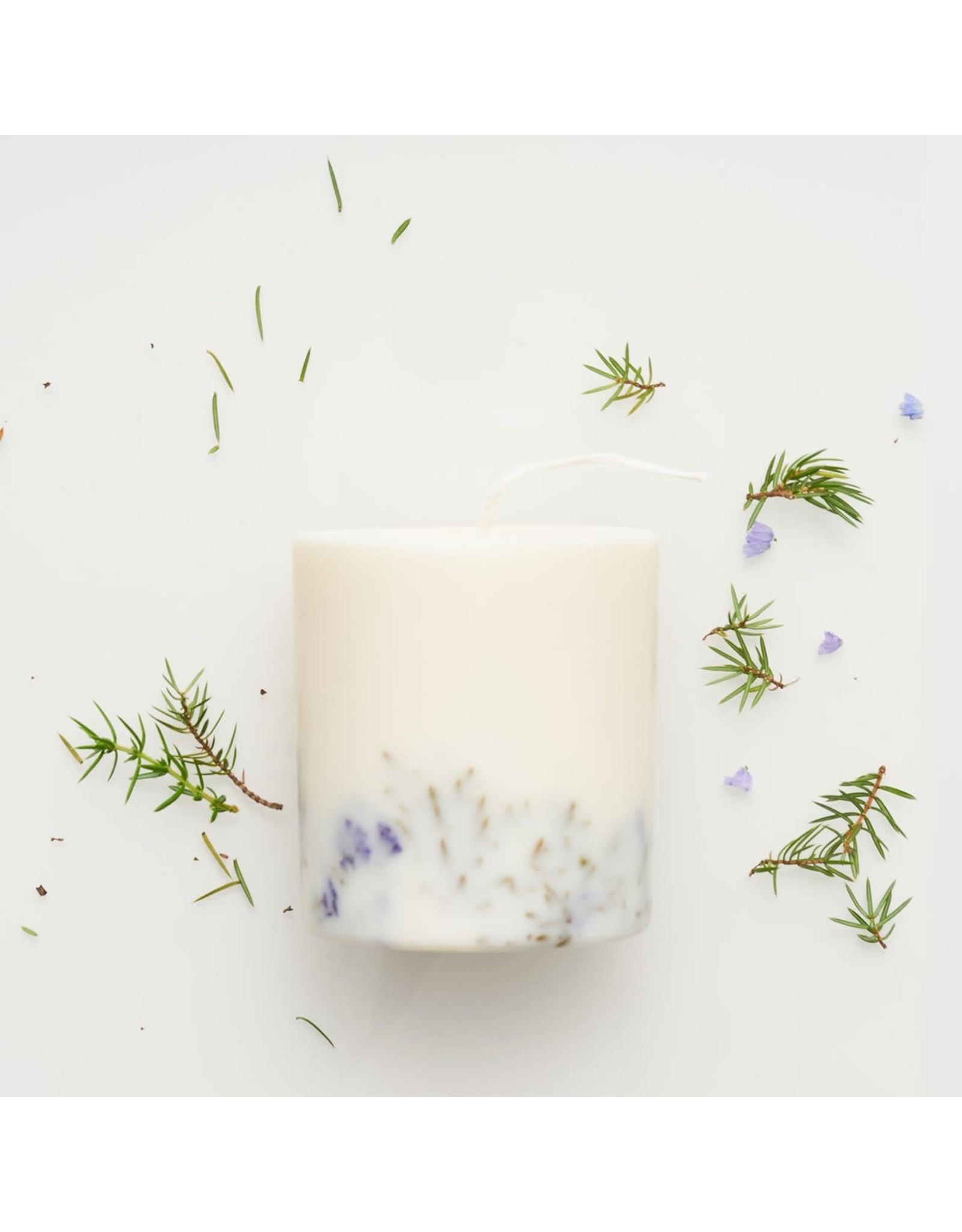 Munio Candela Candle - Juniper & Limonium - Natural Soy Wax - 515ml - Dia 8cm x H 10cm - Burn Time 50h