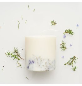 Munio Candela Kaars - Blokkaars - Juniper & Limonium - Natural Soy Wax - 515ml - Dia 8cm x H 10cm - Burn Time 50h