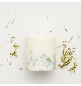 Munio Candela Kaars - Blokkaars - Moss - Natural Soy Wax - 515ml - Dia 8cm x H 10cm - Burn Time 50h